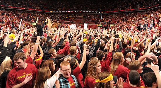 Fans of the Iowa State Cyclones