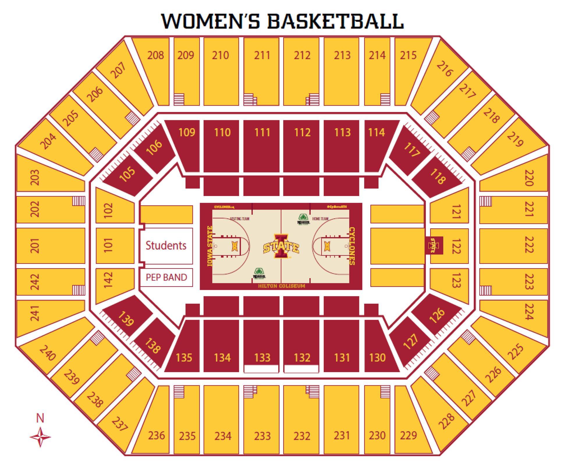 Womens Basketball Seating Chart