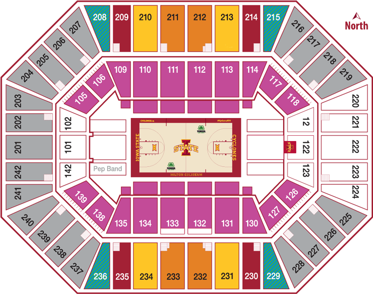 Mens Basketball Seating Chart